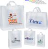 "8""x4""x10"" Plastic Bags - Frosted Clear Soft Loops"